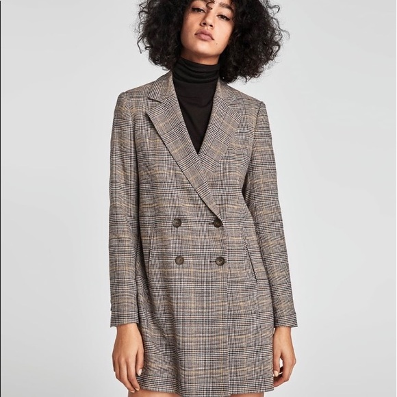 2de530de Zara plaid checked double breasted jacket blazer. M_5a5cf4f800450f7fdb96f0ce